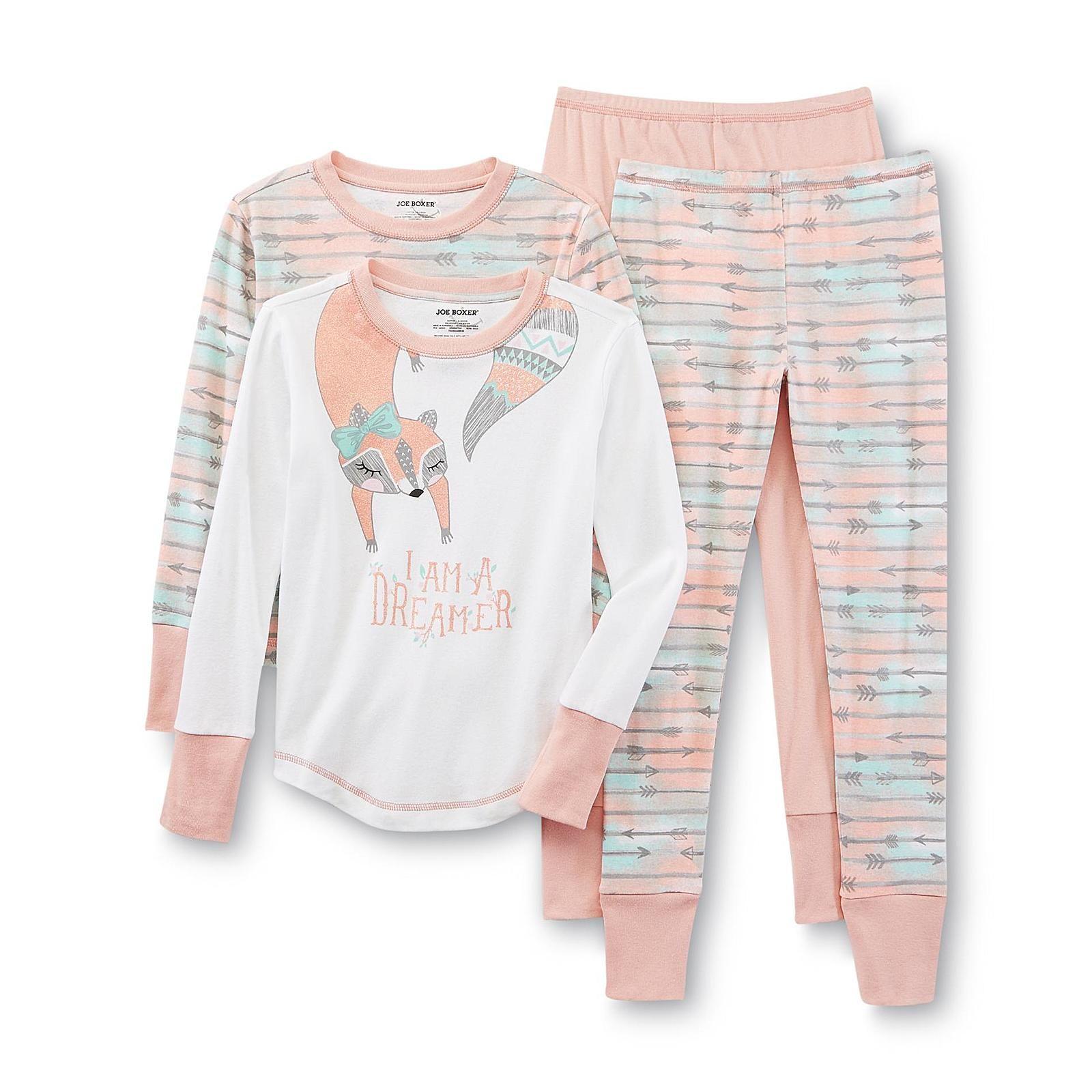 Joe Boxer Girl s 2 Pairs Pajamas Tribal Kids Kids Clothing
