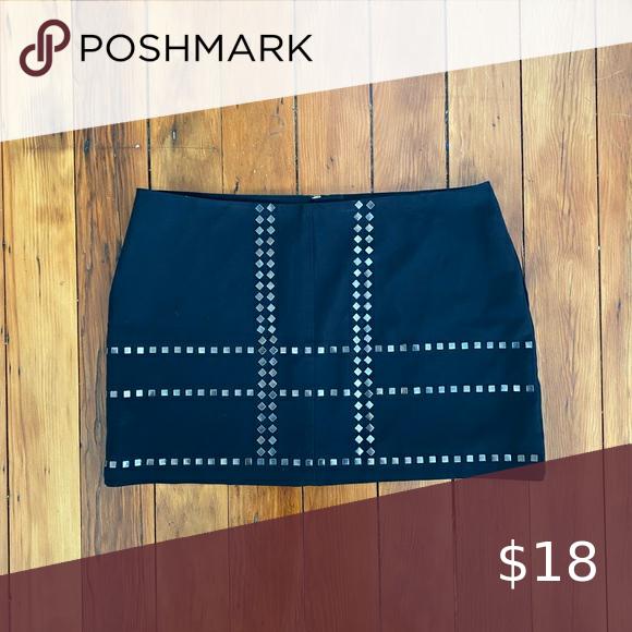 ⭐️3/$15 Black Studded Mini-Skirt