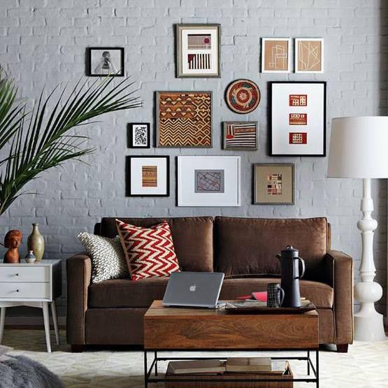 Pin by Vivia Ebiblia Chesnais on Brown sofa Pinterest Living