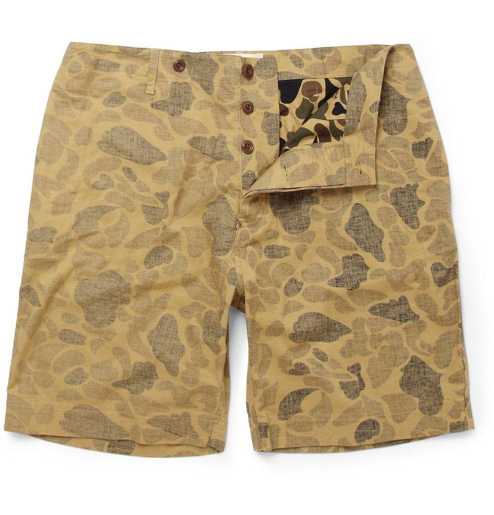 YMCCamouflage-Print Cotton Shorts MR PORTER