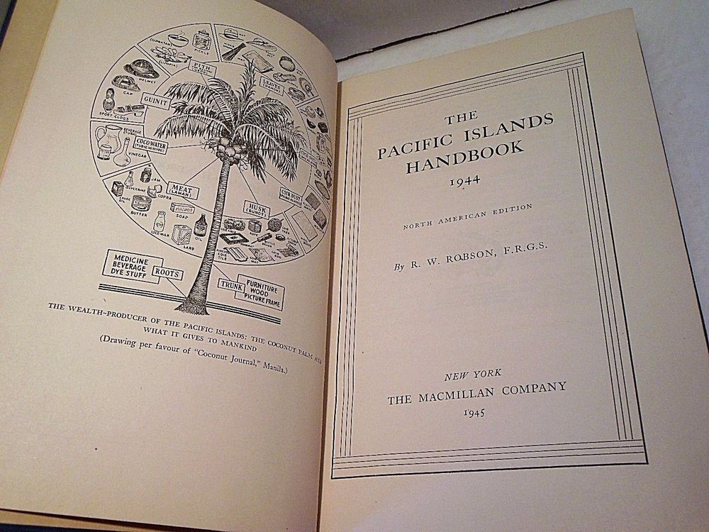 1945 Wartime The Pacific Islands Handbook Fold