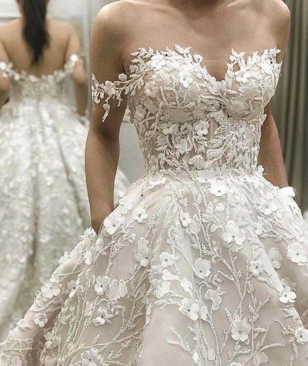 Floral Wedding Dress: Inspired Wedding Dresses Of Couture Bridal Designs In 2019