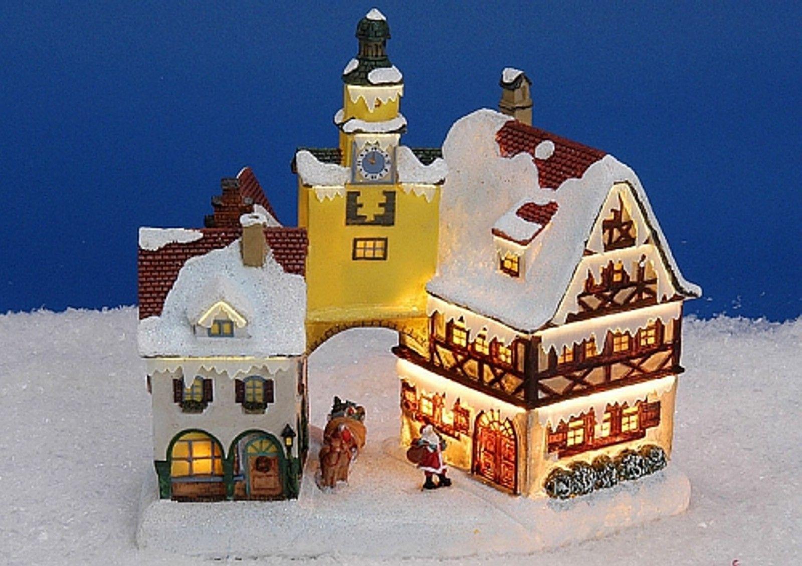 Lichthaus G Wurm Winterdorf Lichtkirche Deko Haus Painting Vesta Art