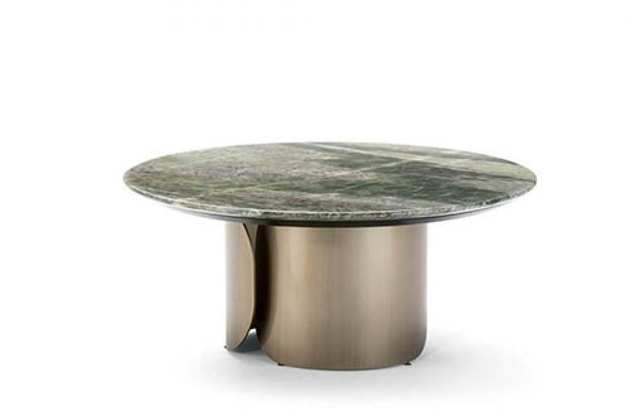 Round Small Table With Bended Metal Base By In 2020 Outdoor