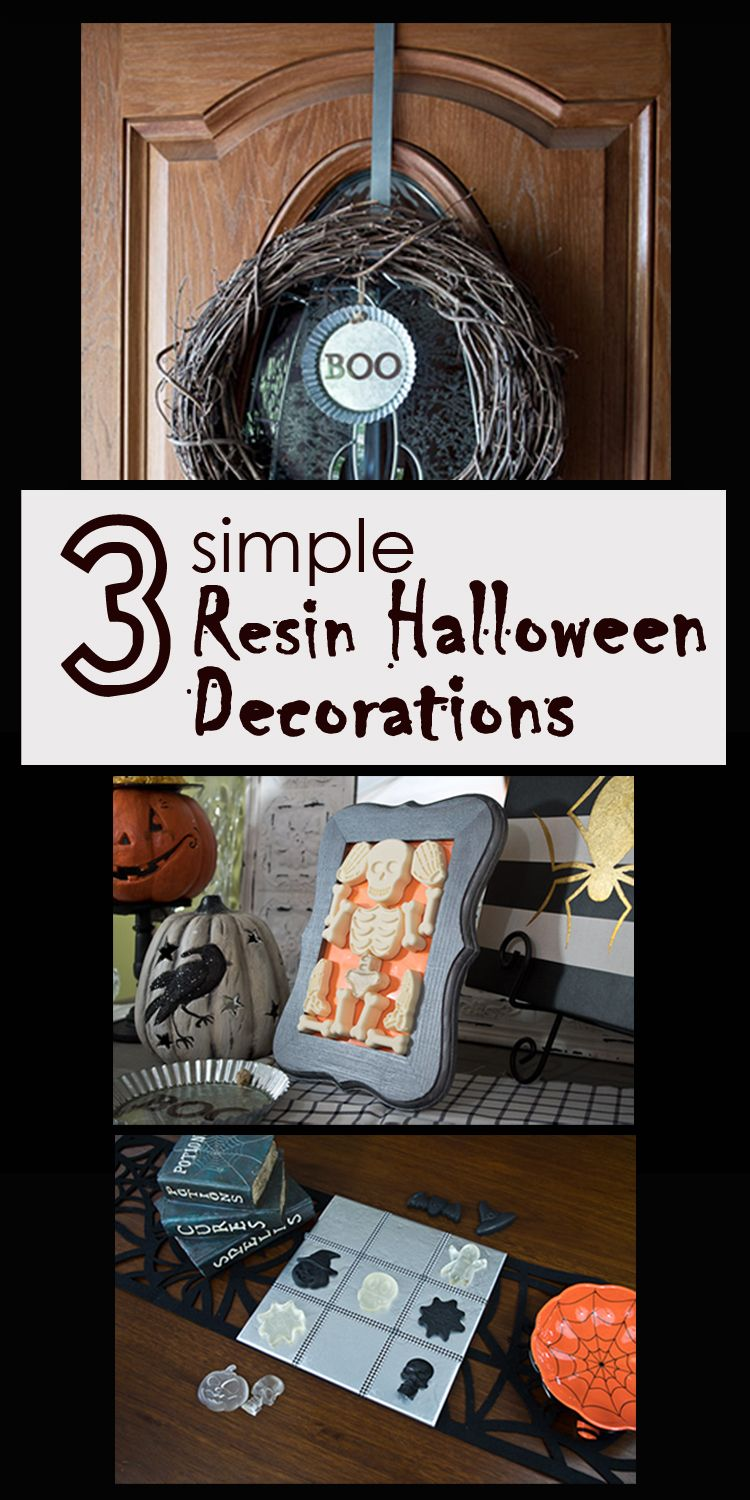 check out how i made these three simple resin halloween decorations