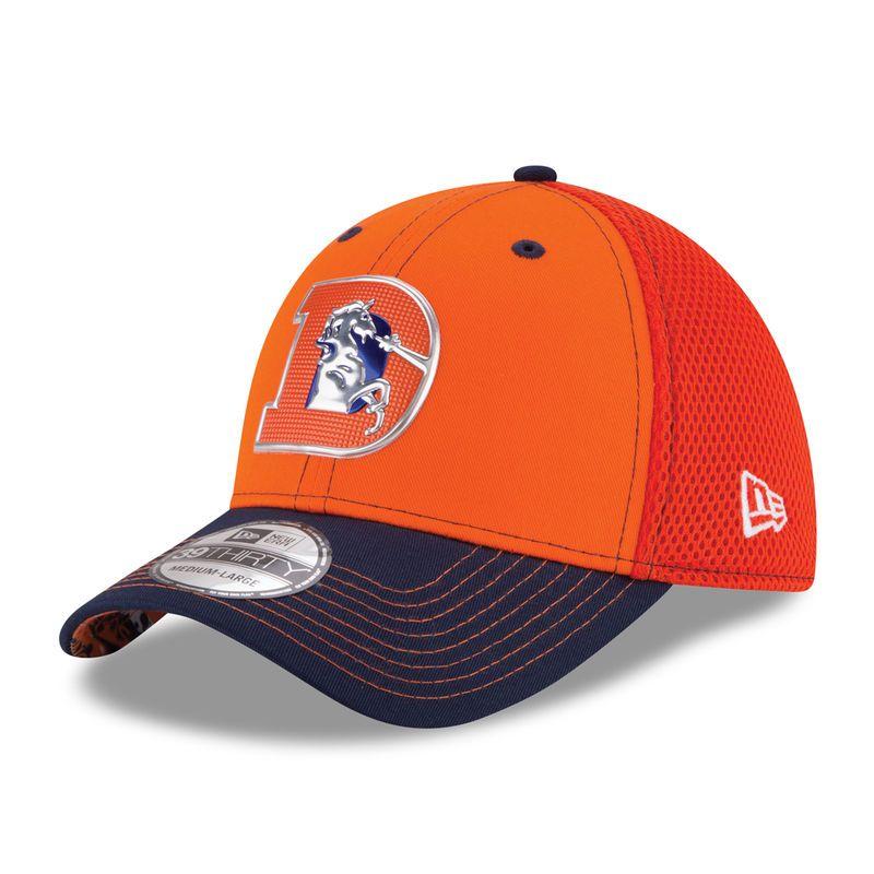 super popular ee34e afda8 New Era Denver Broncos Orange NFL Kickoff Neo 39THIRTY Flex Hat