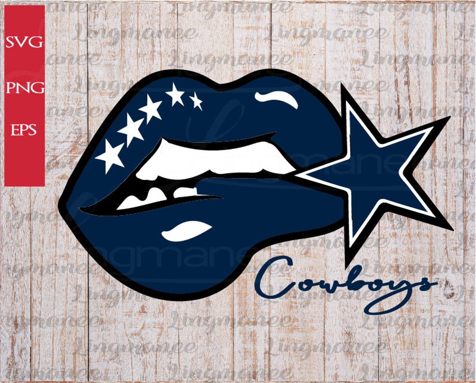 Cowboys Lips svg. Football svg. Cowboys girl svg.Digital