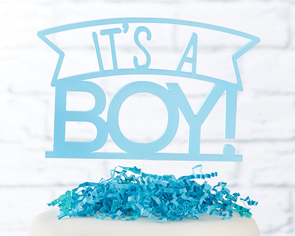 6c6f27c41ac46 It's a Boy Acrylic Cake Topper in 2019 | Products | Acrylic cake ...