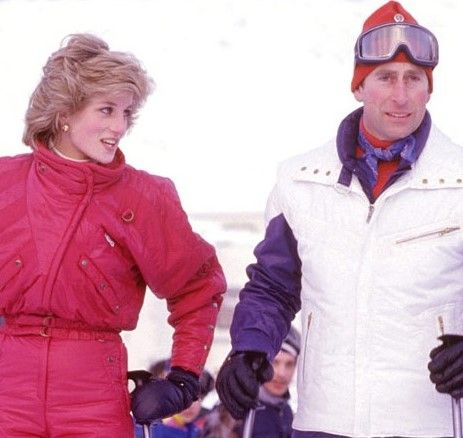 January 24, 1985: Prince Charles and Princess Diana on skiing holiday in Malbun, Liechenstein.