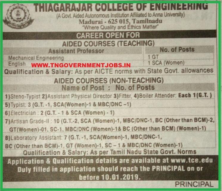 Thiagarajar College of Engineering (TCE) Madurai Teaching