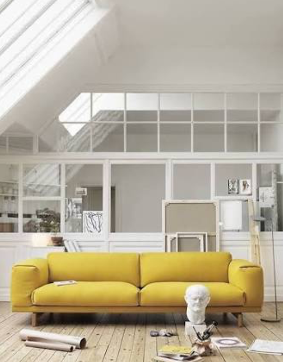 the holy grail: the Muuto Rest sofa in YELLOW