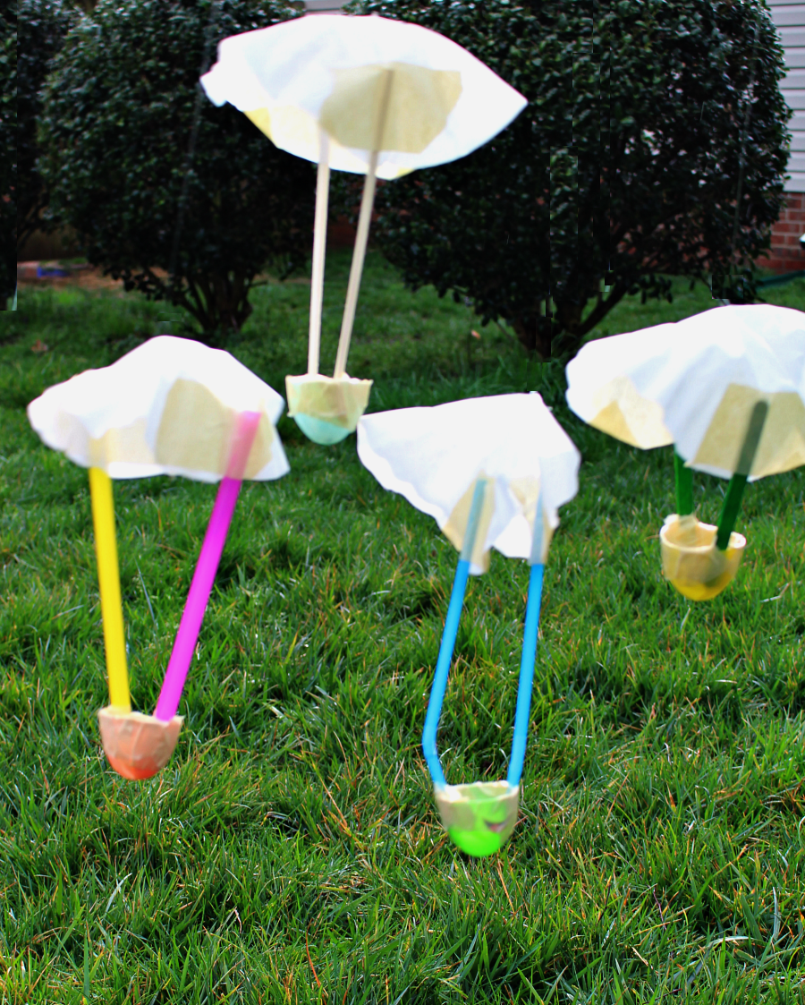 STEM Science Experiments with Egg Parachutes - fun science for ...