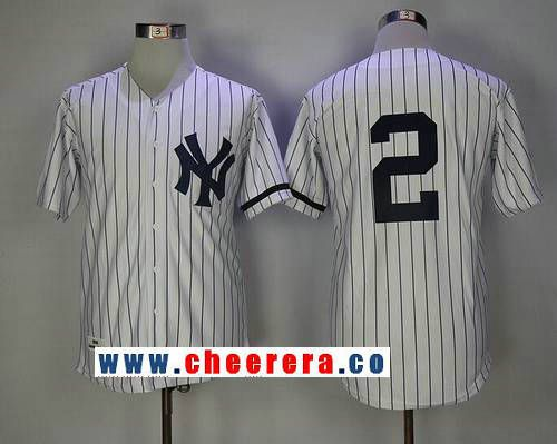 5776daa39dc Men s New York Yankees  2 Derek Jeter White 1995 Throwback Cooperstown  Collection Stitched MLB Mitchell   Ness Jersey