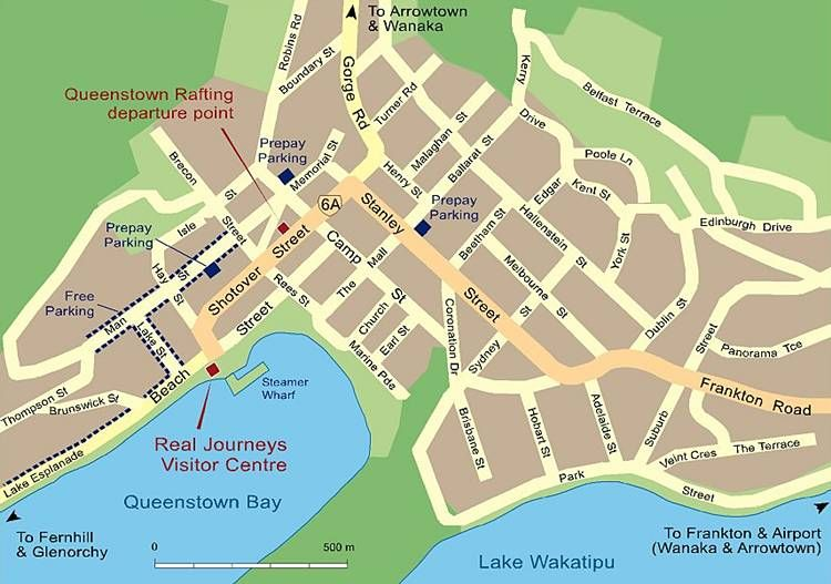 cool Map of Queenstown | Travelquaz Queenstown Map on