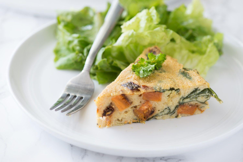 Spinach Sweet Potato Chickpea Crustless Quiche Recipe Make Ahead Brunch Recipes Quiche Recipes Brunch Recipes