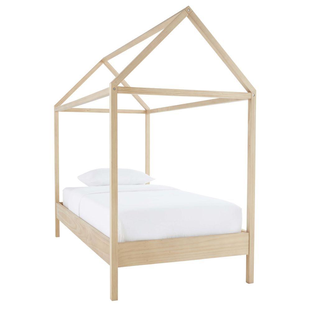 Diy Lit Cabane 90X190 lit cabane enfant 90x190 en pin | bed, cabin, bed slats