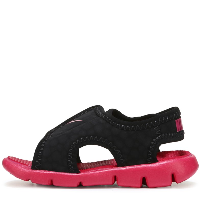 01b787cf6b65b5 Nike Kids  Sunray Adjust 4 Sandal Toddler Sandals (Black Rush Pink)