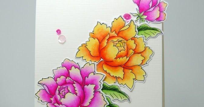 Näytille tilaustyönä tehty syntymäpäiväkortti. Lähtökohtana kortille käytin luonnosta CAS(E) this Sketch! -haasteesta ja värejä Altenew Janu...
