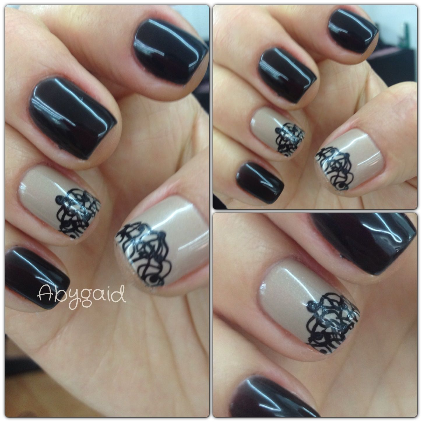 Decorado Para Uñas Gelish Decorado Con Pincel Aby Nails Pinterest