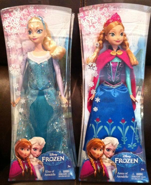 Disney Frozen Elsa And Anna Doll 12 NIB Barbie Hard To Find