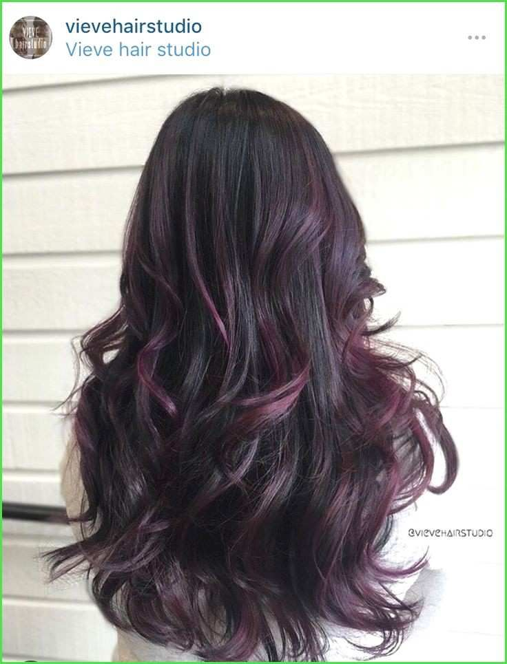 Black Hair Purple Highlights Unique Best 25 Plum Black