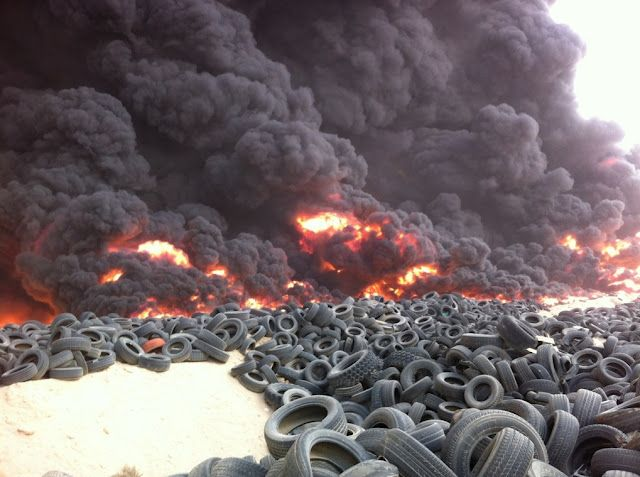 Massive Fire At Jahra Tire Dumpsite In Kuwait Enviroment Landfill Love Time