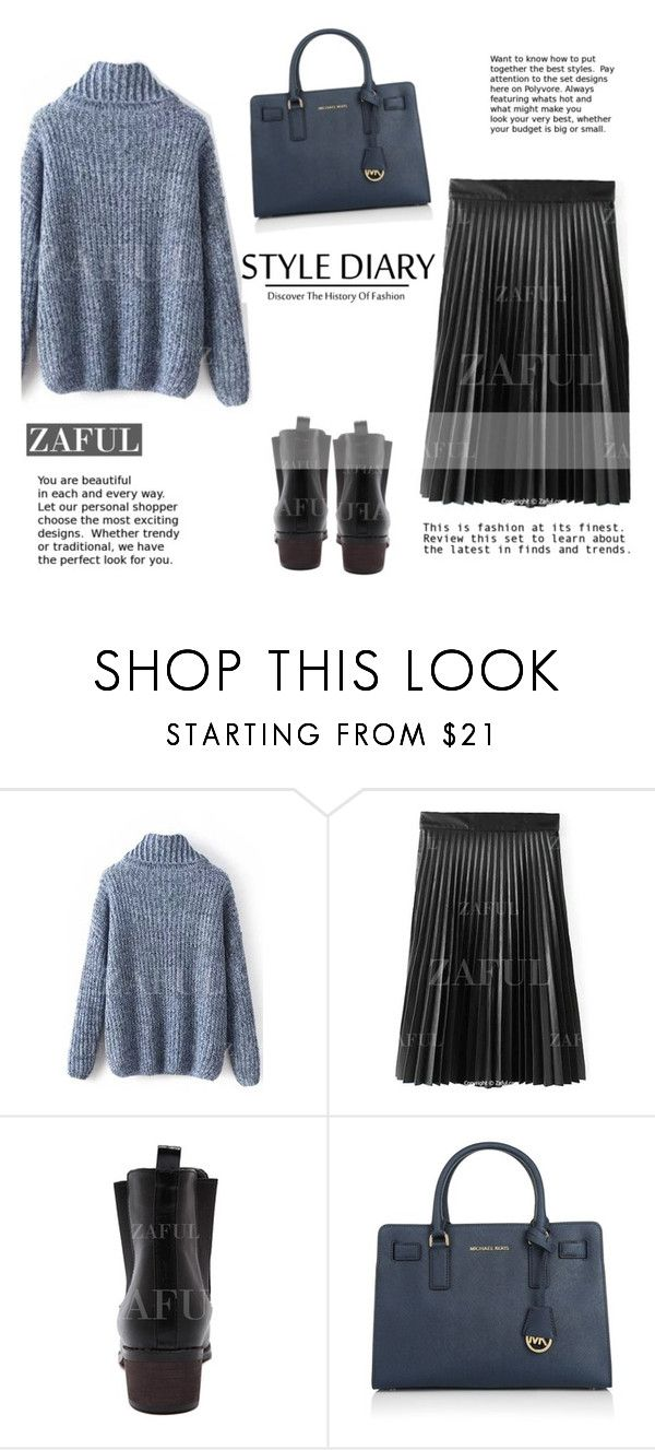 """""""ZAFUL"""" by elly-852 ❤ liked on Polyvore featuring Michael Kors, women's clothing, women, female, woman, misses and juniors"""