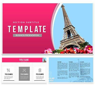 Eiffel Tower Paris Powerpoint Templates Template