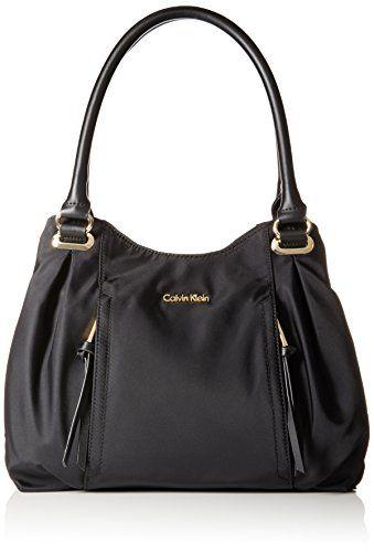 e672224341 Calvin Klein Nylon Shopper Satchel Bag