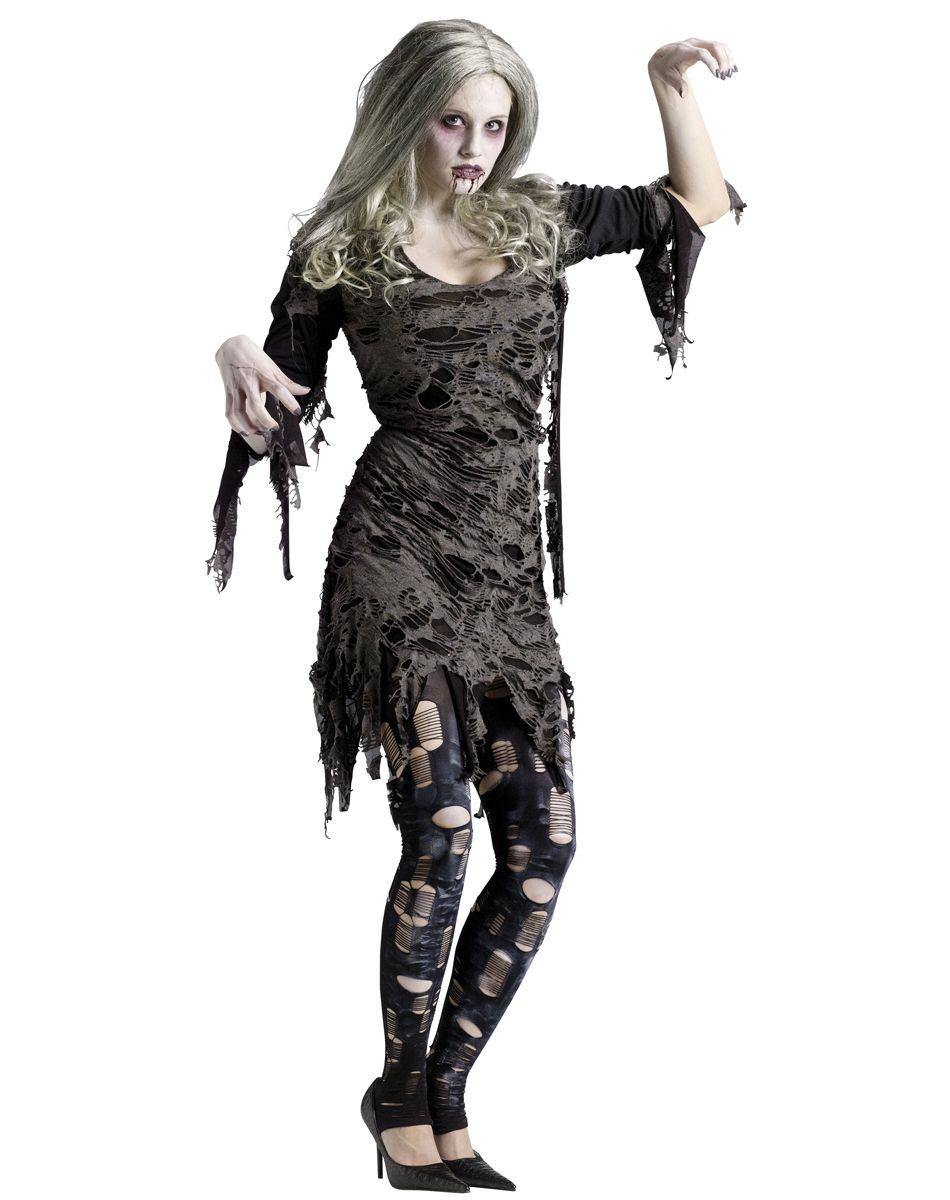 Ladies Halloween Zombie Dead Rock Chick Bride Fancy Dress /& Jacket Costume