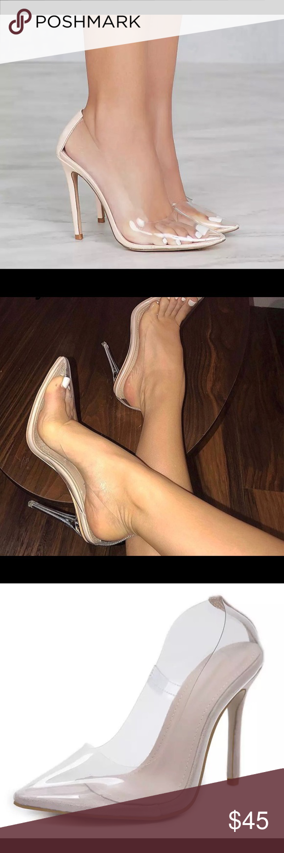 d87b16bd5208 ️SIGN UP ‼ Clear Cinderella Stiletto Pumps  Like this listing so you will