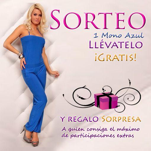 SORTEAMOS 1 Mono Azul Fashion Style Participa del 03/09 al 29/09 desde aquí: http://bit.ly/1BbrHYq