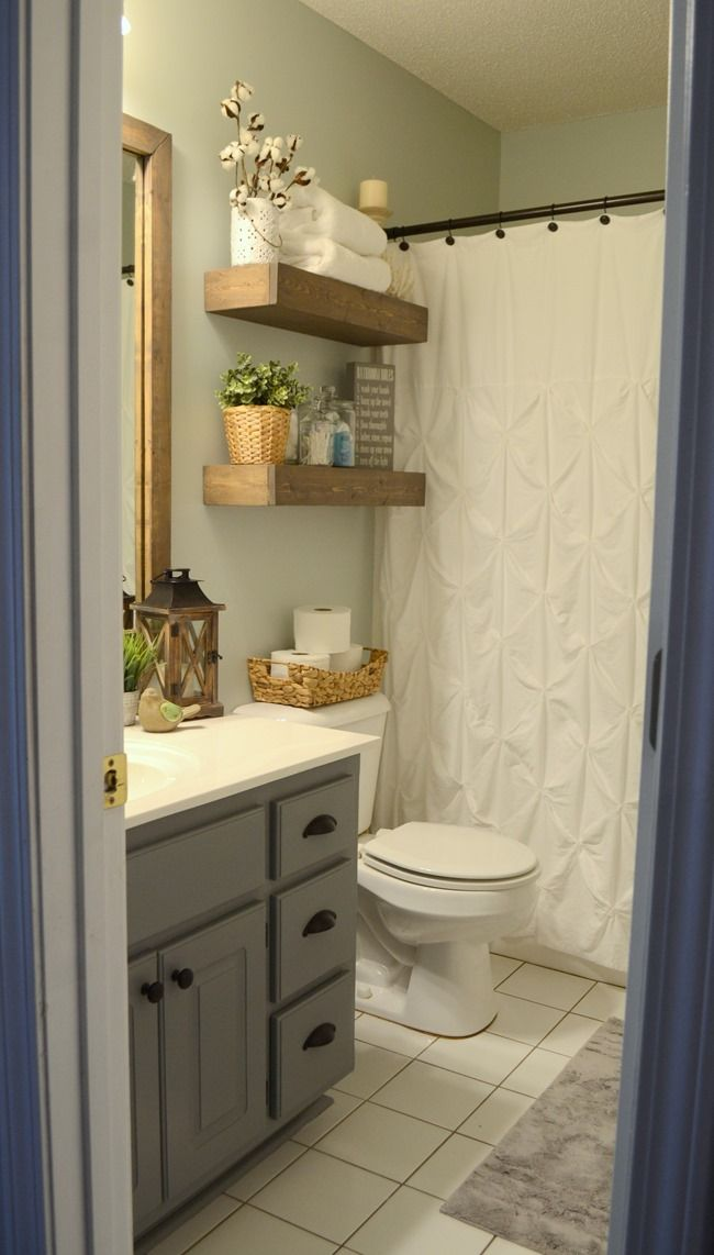 Modern Farmhouse Inspired Bathroom Makeover One Room