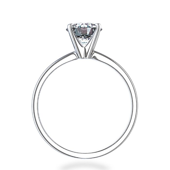 Timeless Four-Prong Round Solitaire Engagement Ring In 14k