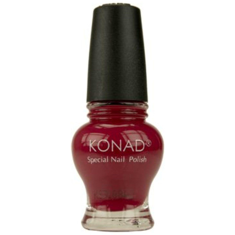 Konad Nail Art Stamping Princess Special Polish - Cool Red (12ml ...