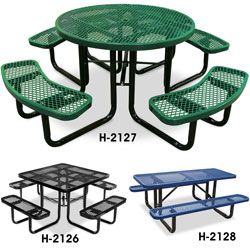 Picnic Table Ideas For New Patio At Serenity Metal Picnic