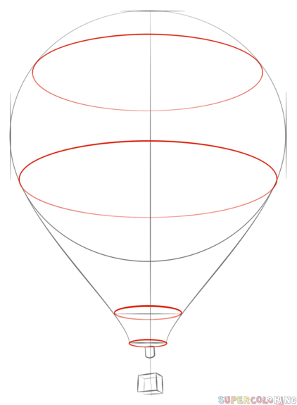 how to draw a hot air balloon step by step drawing