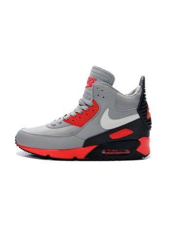 Tênis Nike Air Max 90 Winter Sneakerboot Cinza/Vermelho