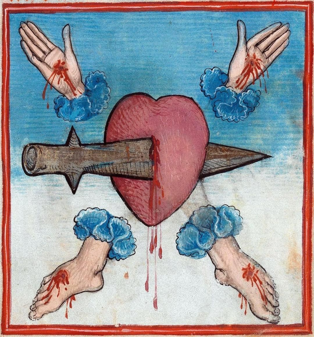 Five wounds prayer book upper swabia 1476 stuttgart medieval art five wounds prayer book upper swabia 1476 stuttgart wrttembergische biocorpaavc Image collections