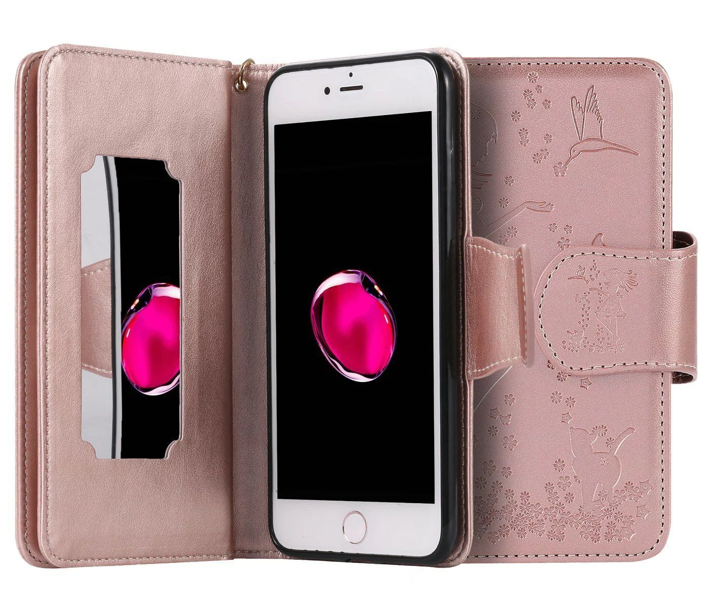 Giveaway iphone 7 plus case wallet leather