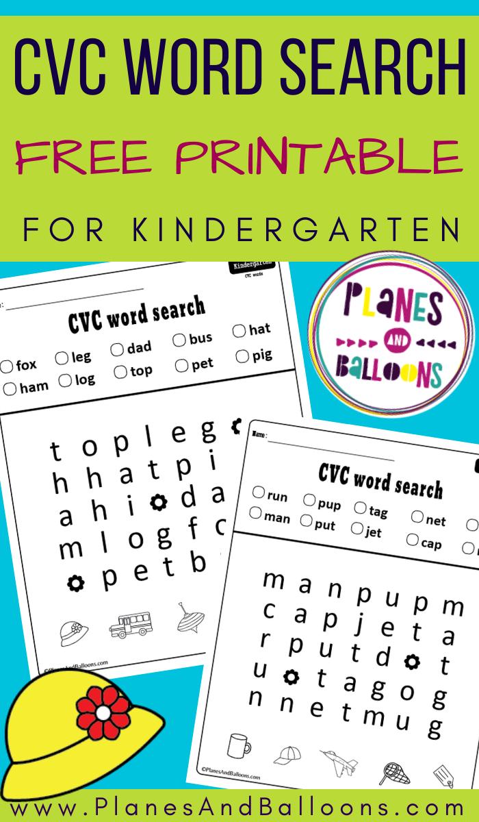 Cvc Word Search Free Printable Worksheets Planes Balloons Cvc Words Kindergarten Cvc Words Cvc Words Worksheets [ 1200 x 700 Pixel ]