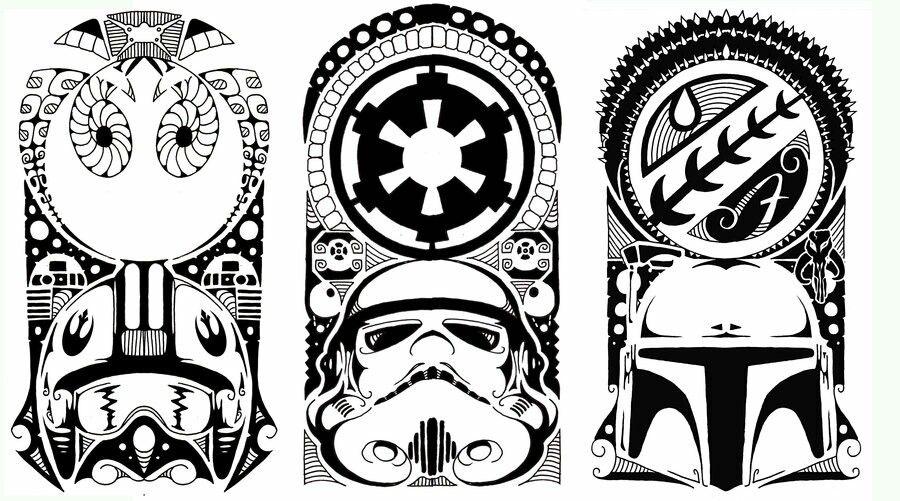 Polynesian Tribal Tattoo Starwars Star Wars Symbols Star Wars Drawings Star Wars Art