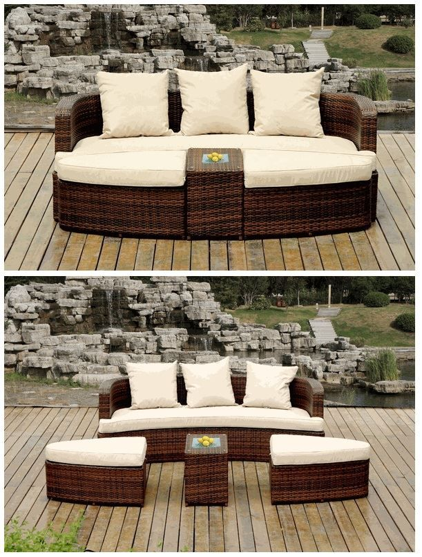 Ohana Wicker Furniture 4 Piece Daybed Sofa Set Only 1499 Ohana Outdoor Patio Furniture