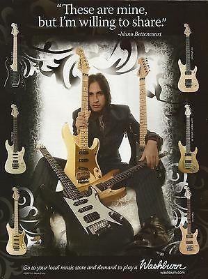 422f1ac2dc9 washburn nuno bettencourt n2 n4 n5 n61 guitar promo ad