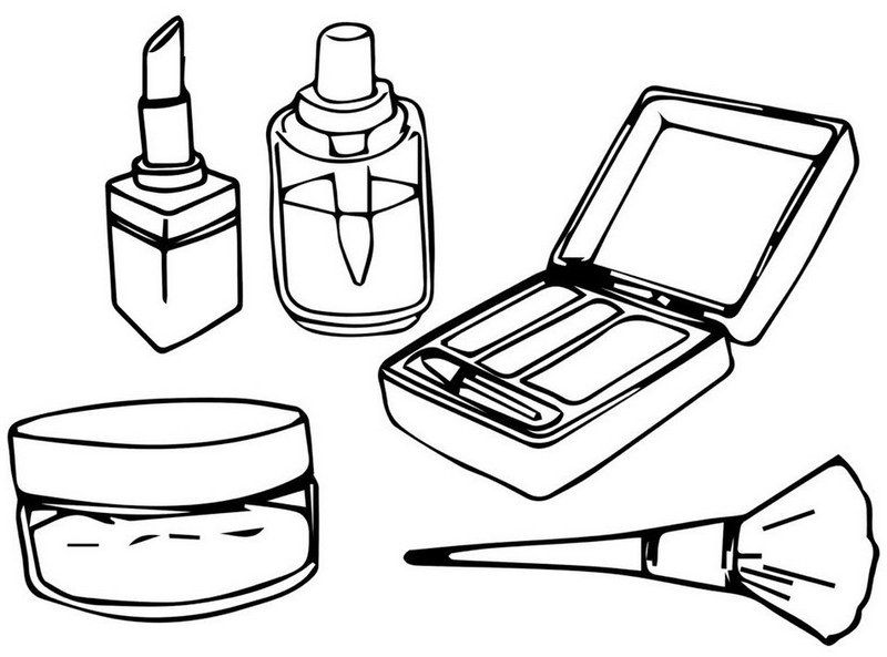 Fun Makeup Kit Coloring Sheet For Girls Coloring Pages For Girls Best Makeup Products Makeup Kit