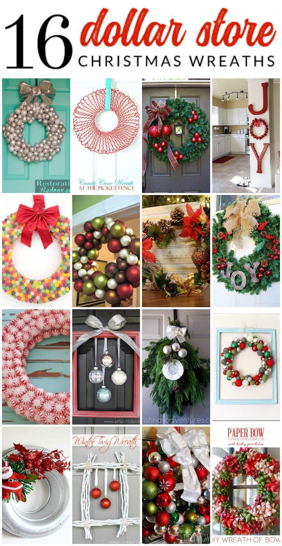 16 Gorgeous Dollar Store Christmas Wreaths Christmas Wreaths Diy