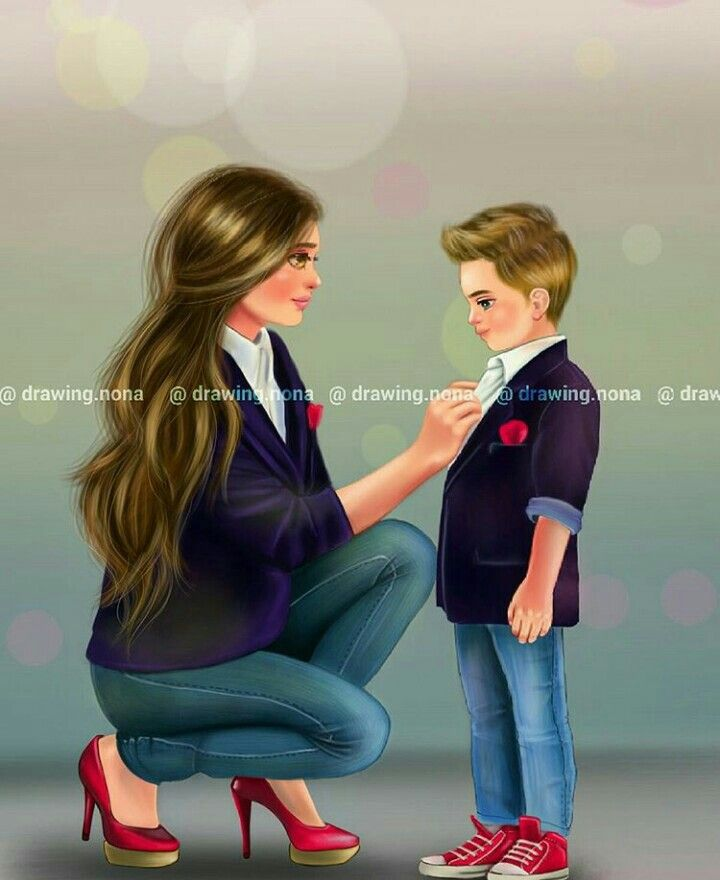 Pin By Naina On My Uploaded Dpzzz Mother Daughter Art Mother Art Girly M
