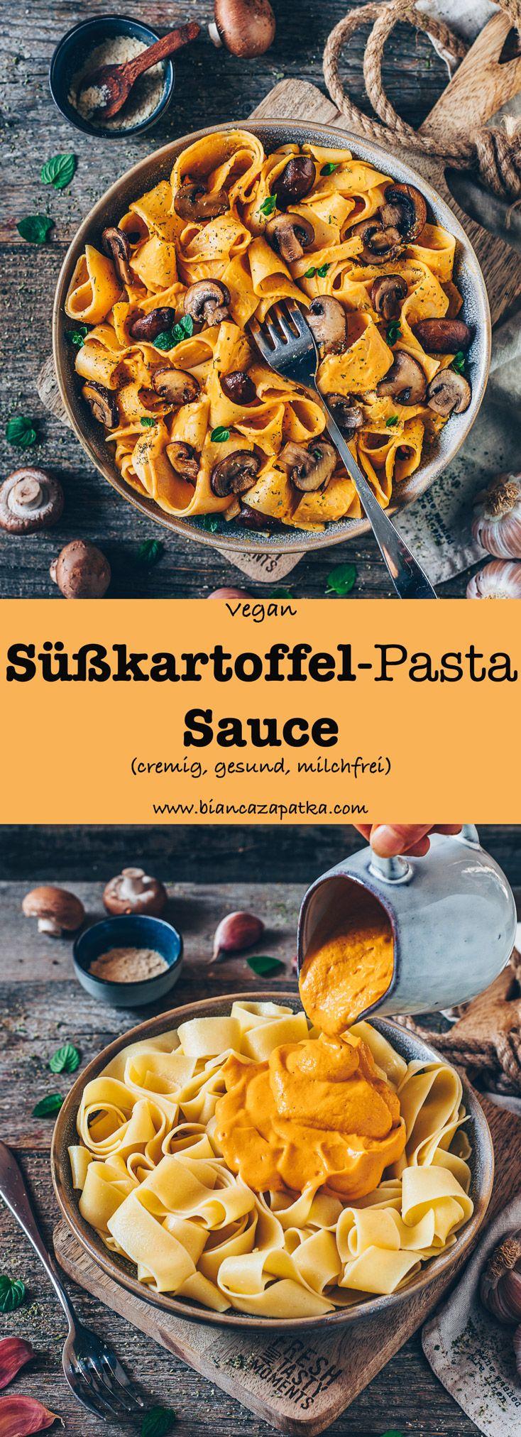 Photo of Süßkartoffel-Pasta-Sauce (vegan, cremig) – Bianca Zapatka | Rezepte