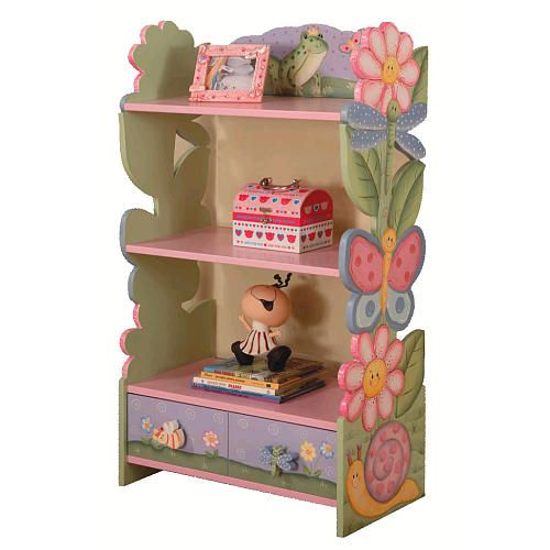 playroom shelf fantasy fields girls magic garden bookcase teamson design corp