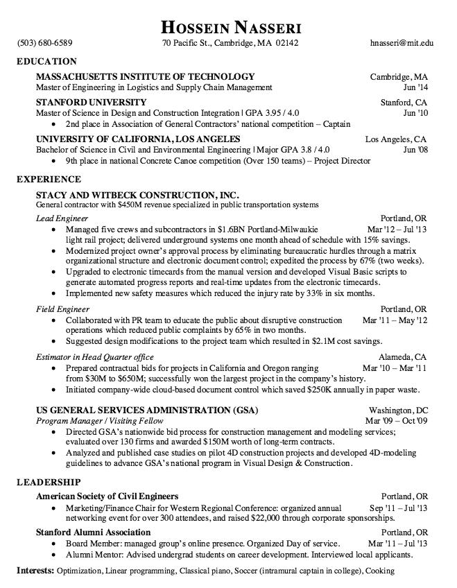 Sample Resume Lead Engineer  HttpResumesdesignComSample